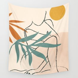 Minimal Line in Nature II Wall Tapestry
