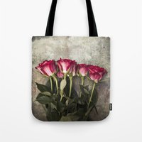 roses Tote Bags featuring Roses by Maria Heyens