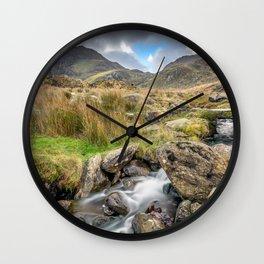 Tryfan Mountain River Wall Clock