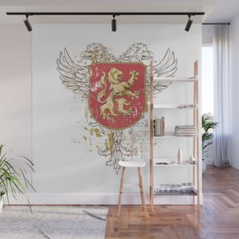 Coat of Arms Shield - Griffin Seal - Crown Lion and the Mark Wall Mural