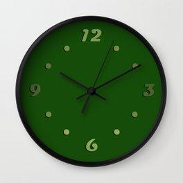 Dark green Wall Clock