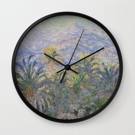 Palm Trees at Bordighera Wall Clock