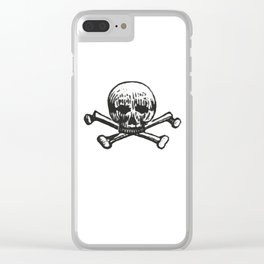 Skull and bones Clear iPhone Case