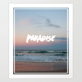Paradise on the beach Art Print