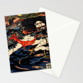 The Tattooed Samurai Traditional Japanese Character Stationery Cards