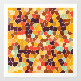 Colorful stained glass Art Print