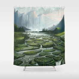 The Great Waterfall Shower Curtain