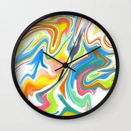 Marbleized Wall Clock