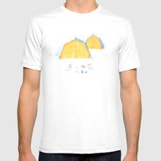 Le Camping MEDIUM Mens Fitted Tee White