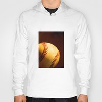 baseball Hoodies featuring Baseball by Janice Sullivan