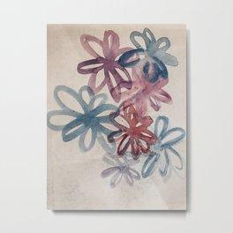 WATERCOLORS FLOWERS Metal Print