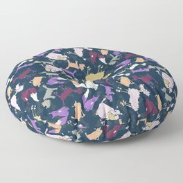 Wonky dogs Floor Pillow