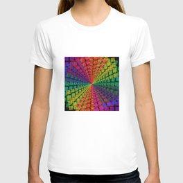 Colorful mosaic pattern design artwork- colorful christmas gifts- pixel art T-shirt