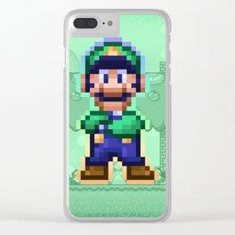 Luigi Bro Clear iPhone Case