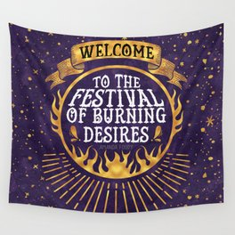 Daughter of the Burning City - Amanda Foody - Purple Wall Tapestry