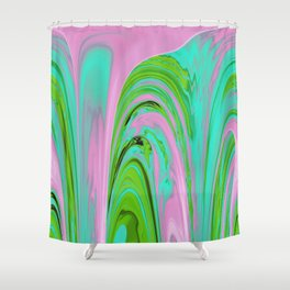 The Flaring Falls of Strine Canyons (Jungle Variant) Shower Curtain