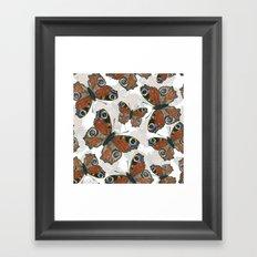 Peacock butterfly pattern Framed Art Print