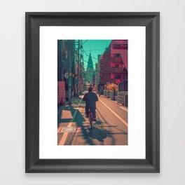TOKYO BIKE RIDE Framed Art Print