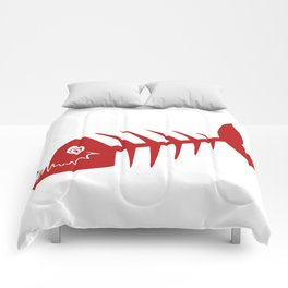 Pirate Bad Fish red- pezcado Comforters