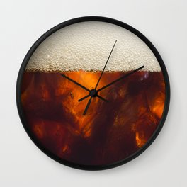 Soda In Glass Wall Clock