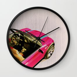 Pink Playmobil Wall Clock