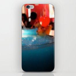 Blue Red Cereza iPhone Skin