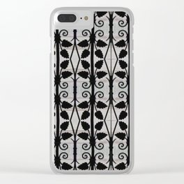 Simple stripes with leaves Clear iPhone Case