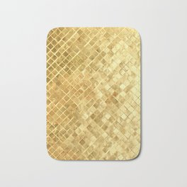 Golden braiding Bath Mat