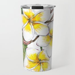 Frangipani Flower Travel Mug