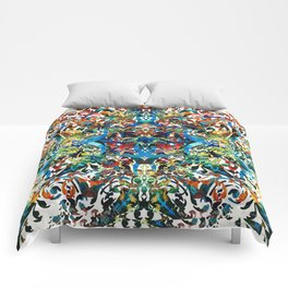 Bold Pattern Art - Color Fusion Design 8 By Sharon Cummings Comforters