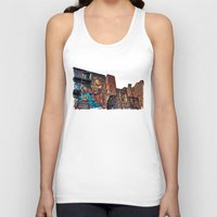 manchester Tank Tops featuring Colourful MANchester by inkedsandra