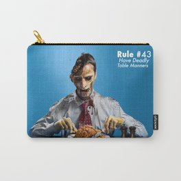 Zombie Etiquette : Table Manners Carry-All Pouch