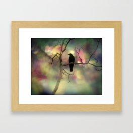 Crow Dreams In Colors Framed Art Print