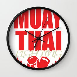 Kickboxing Gift Boxing Martial Arts Kickboxer Ko Wall Clock