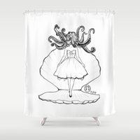 ariel Shower Curtains featuring Ariel by Stacy Marie Studios
