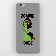 Zombie Babe iPhone & iPod Skin