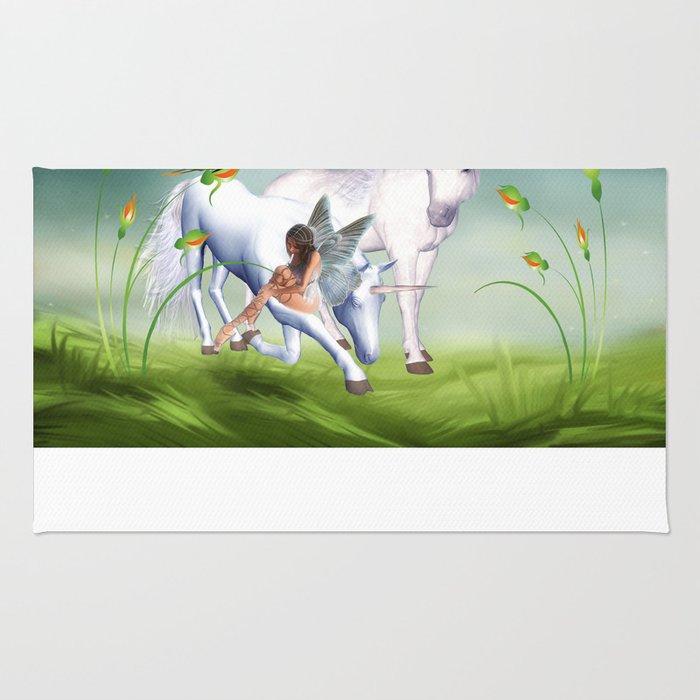 Einhorn und Fee - Unicorn and Fairy Rug