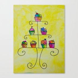 Cupcake Display Canvas Print