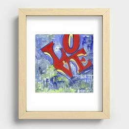 LOVE Recessed Framed Print