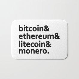 bitcoin & ethereum & litecoin & monero. Bath Mat