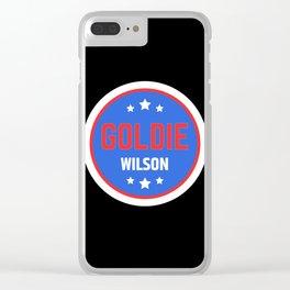 Goldie Wilson Clear iPhone Case