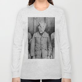 American, British, French, & German Gas Masks Long Sleeve T-shirt