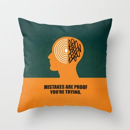 Lab No. 4 -Mistakes are proof you're trying corporate start-up quotes Poster Throw Pillow