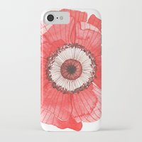 oana befort iPhone & iPod Cases featuring Red Poppy by Oana Befort
