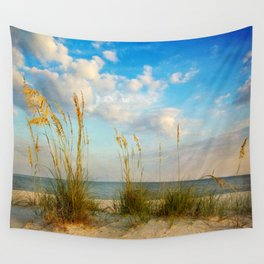Sea Oats along the Beach Wall Tapestry
