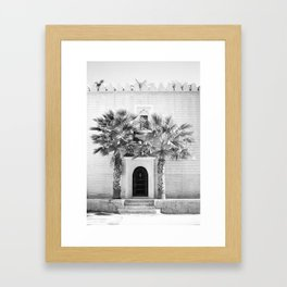 """Travel photography print """"Magical Marrakech"""" photo art made in Morocco. Black and white. Framed Art Print"""