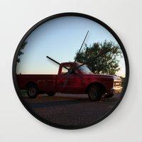 truck Wall Clocks featuring Truck by Bex Finch