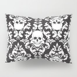 Skull Damask Pillow Sham