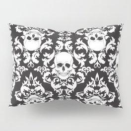 Skull Damask Pillow Sham