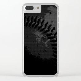 Baseball Illusion Clear iPhone Case